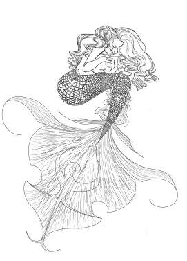 mermaid-outline-drawing-31