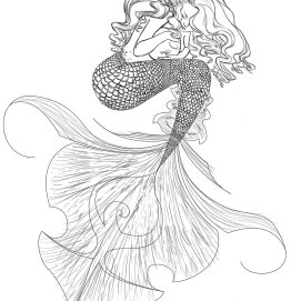 mermaid-outline-drawing-31