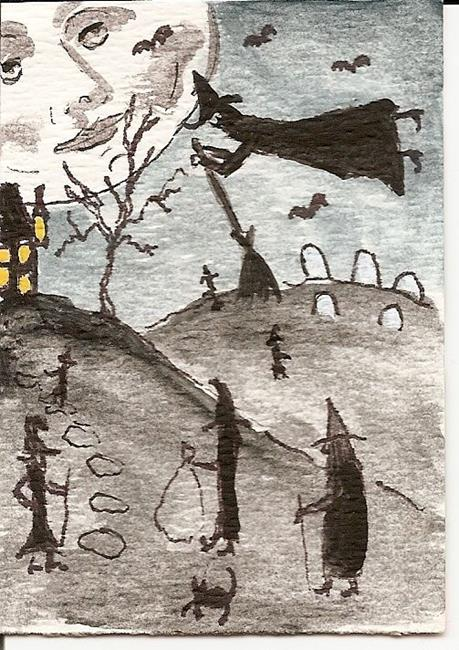 Witches-Gathering-original-ACEO
